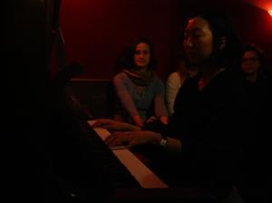 Kelly on piano